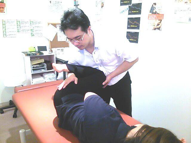 反り腰治療施術