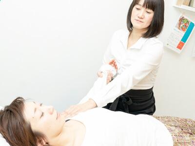 腋下リンパ節への深部リンパドレナージュ