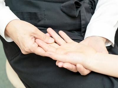 指のリンパドレナージュ